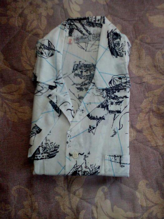 Мъжка риза с къс ръкав - НАМАЛЕНИЕ