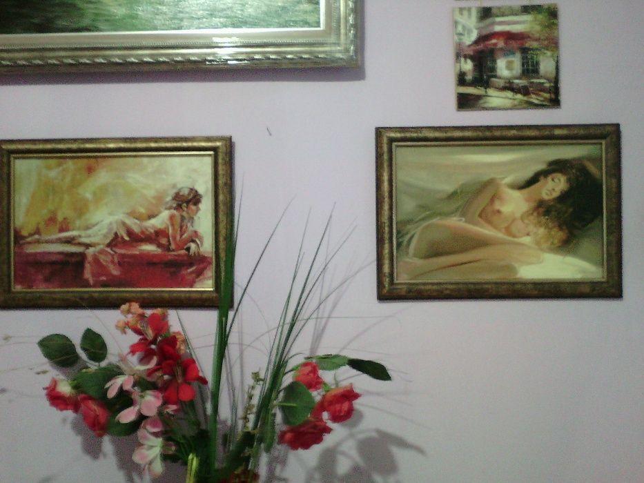 """СЕТ 2 бр. Картини """"Голи тела"""" 35Х25 см. с рамка върху платно"""
