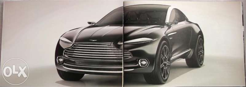 Колекционерски прес книга брошура автомобили Aston Martin DBX Concept