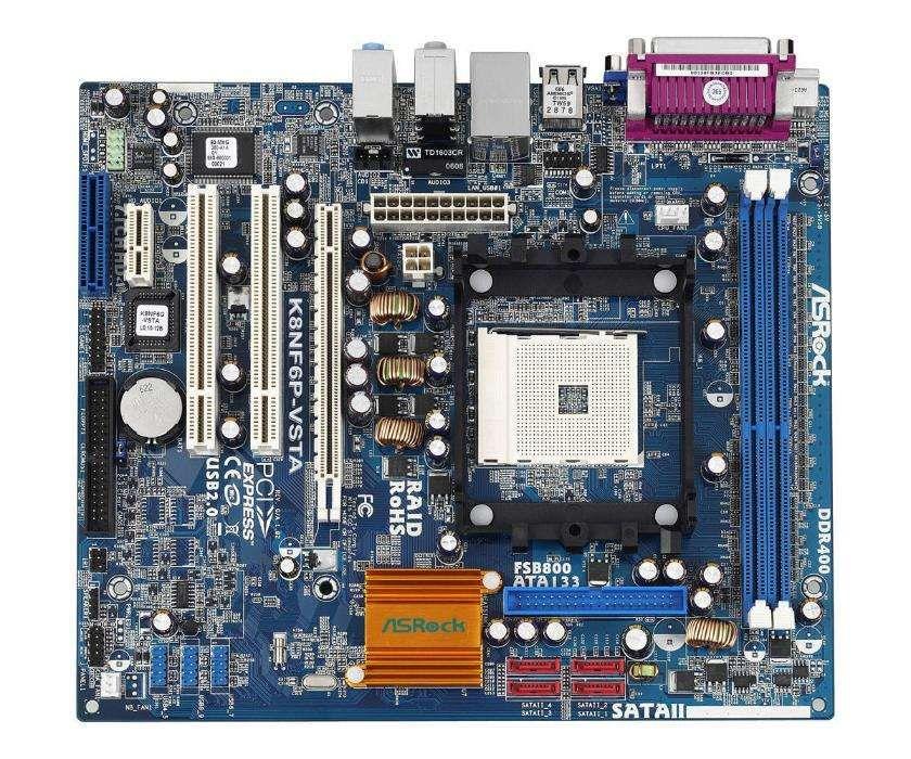 Placa-mãe Asrock K8NF6P-VSTA 754 V+S+R + Procesador (Produtos Original
