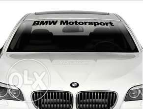 Код 37. Бмв Моторспорт стикер за преден или заден прозорец