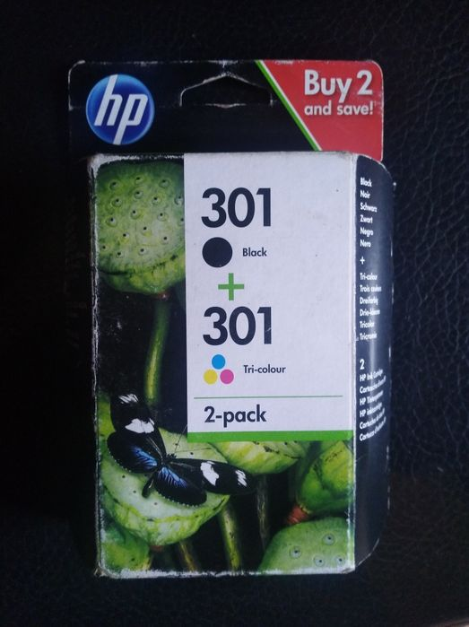 Tinteiro hp 301 preto e color
