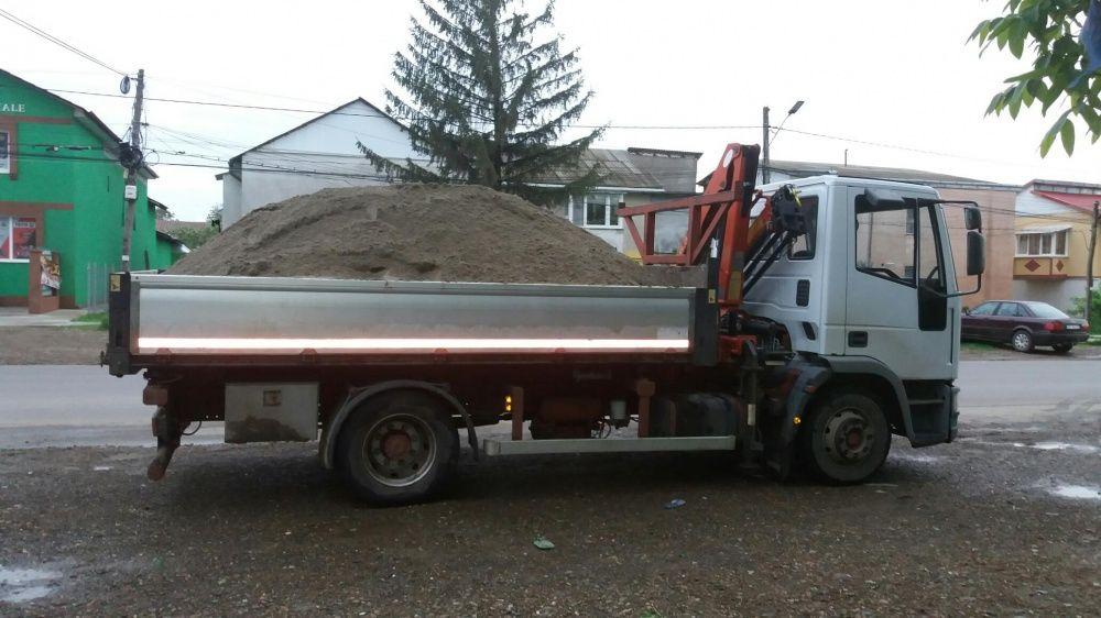 Sort nisip pamant negru.inchiriez camion