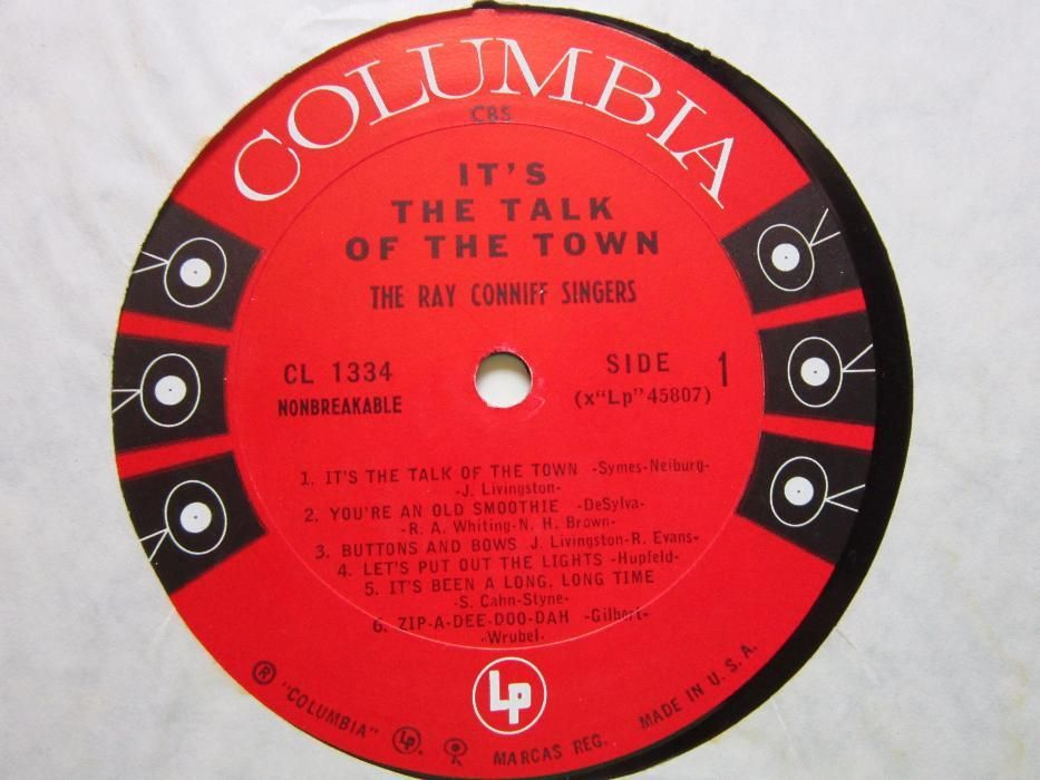"""vinil 3LP """"Broadway In Rhythm""""&""""ITalk Of The Town""""-Ray Conniff-65 lei"""