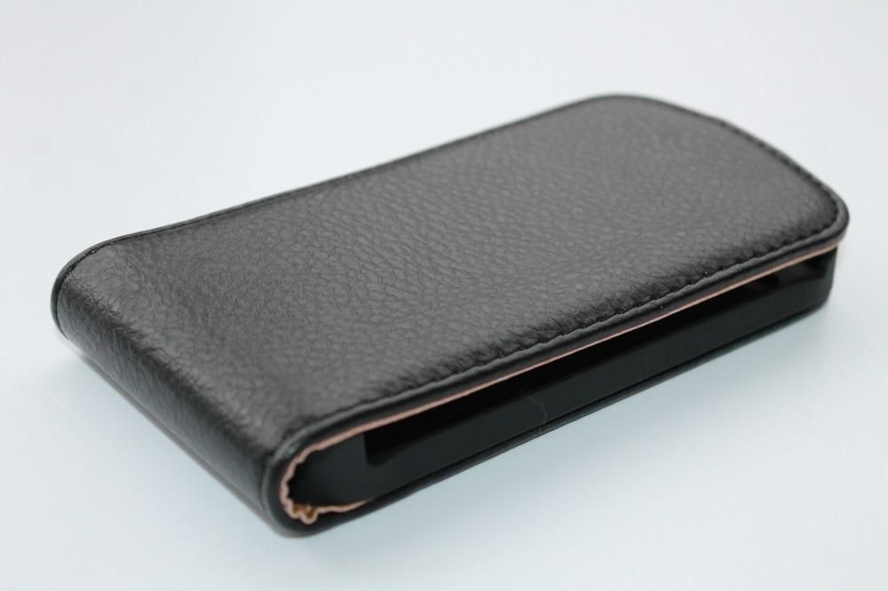 Husa Samsung Galaxy W I8150 neagra flip slim
