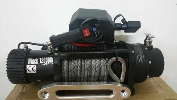 Troliu Auto Lift Winch 12000lbs 12v cu plasma sintetica - MODEL 2017