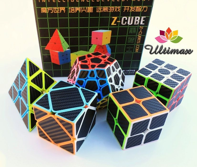 Z-Cube * Set 5 Cuburi Rubik * Stickere Fibra de Carbon