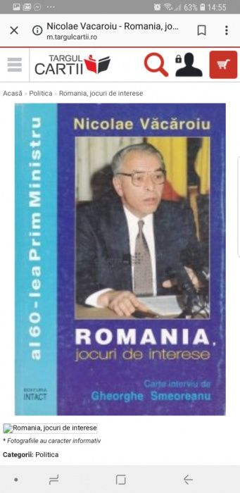 Romania - jocuri de interese de Gheorghe Smeoreanu