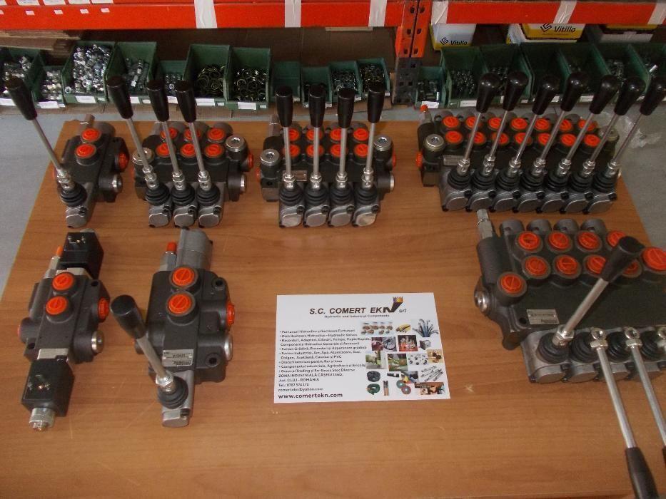 "Distribuitor hidraulic 3/8"" 40 litri - Distribuitoare Hidraulice"