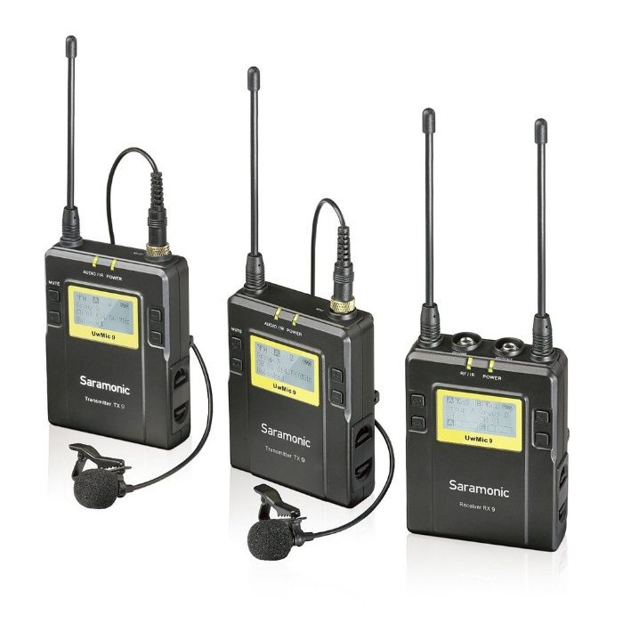 Lavaliera wireless kit Saramonic UWMIC10 (RX9+ TX9+ TX9) 96 canale