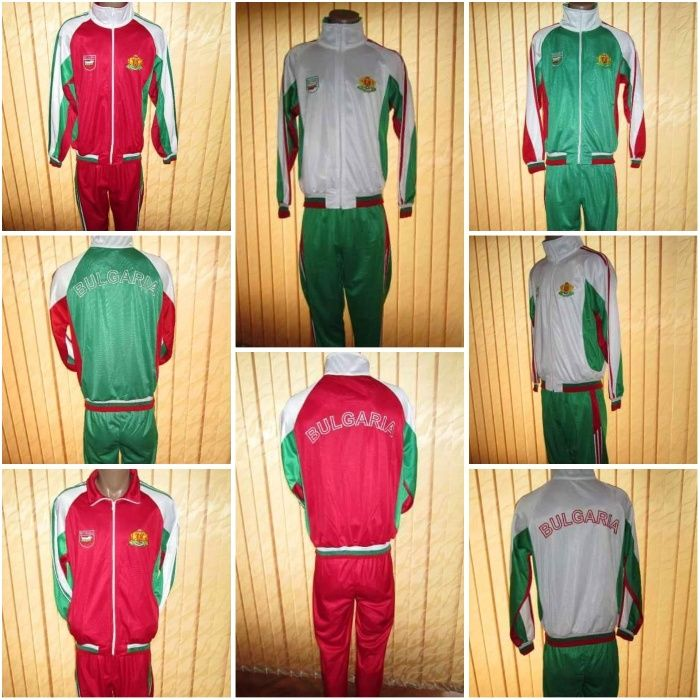 България - мъжки/детски екип(червен,зелен или бял) - полиестер лукс