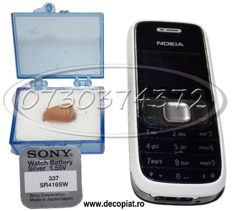 Telefon Nokia special modificat cu casca de copiat MC1000 sistem casti