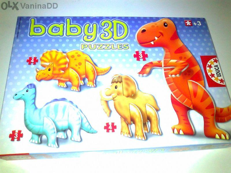 3D пъзел динозаври на EDUCA