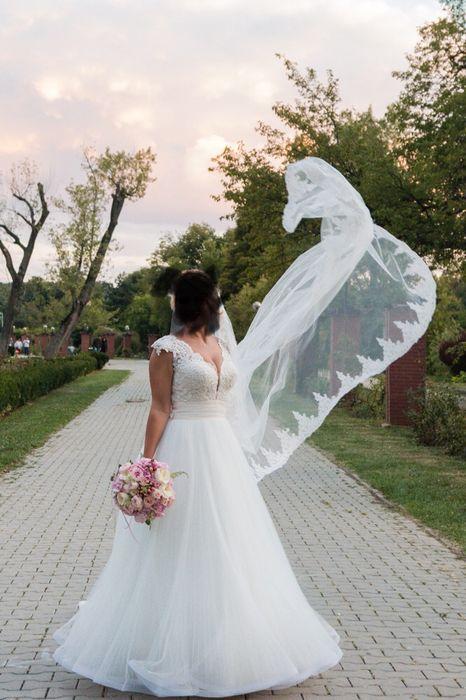 Rochie de mireasa Best Bride cu trena&funda detasabila