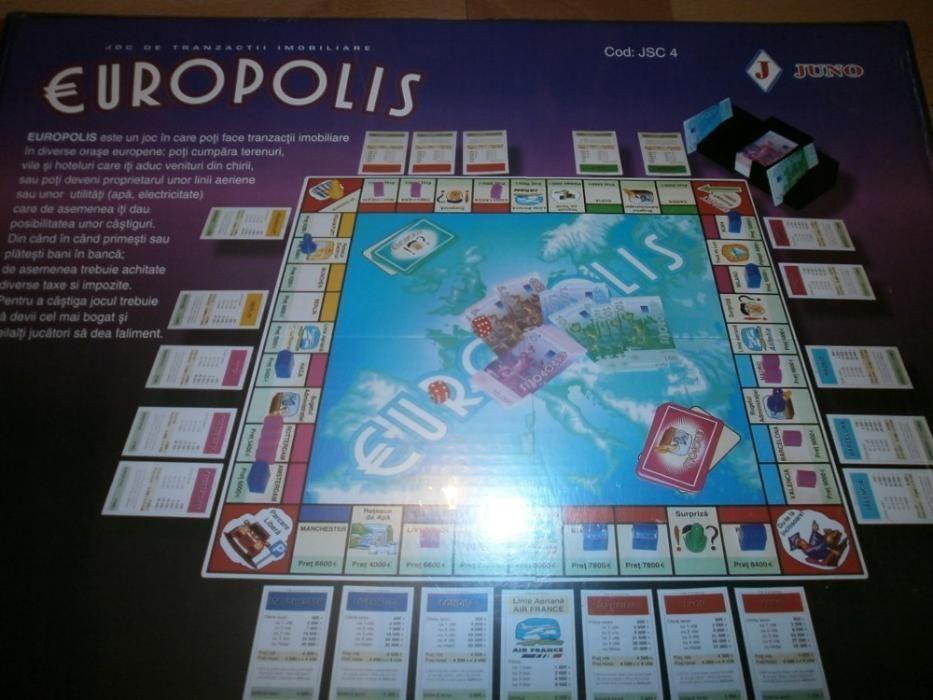 Joc Europolis tranzactii imobiliare tip monopoly