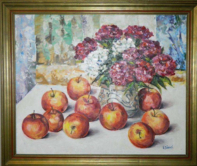 "Vand tablou artist contemporan ""Flori si mere"""