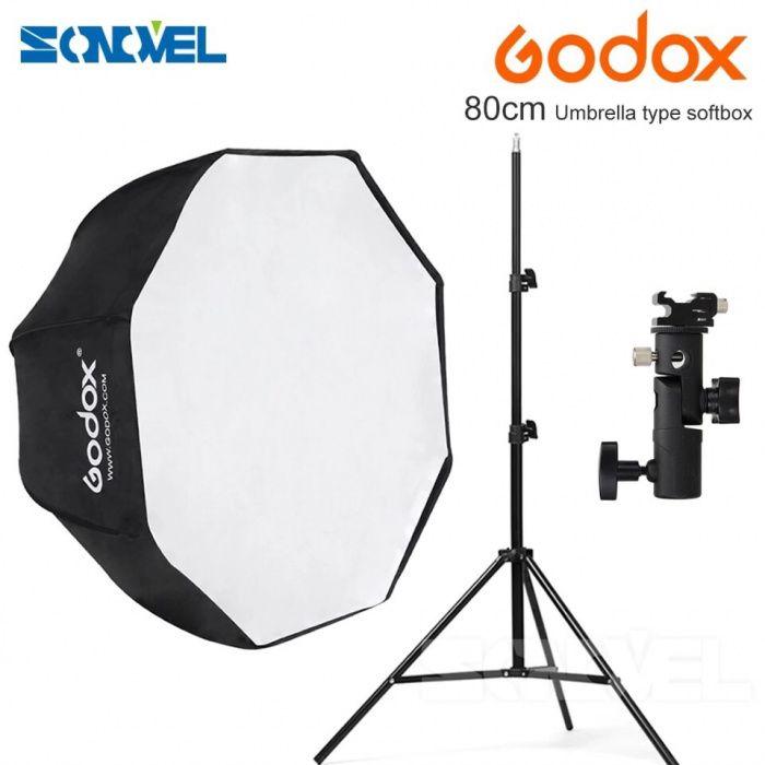 Godox 80 cm octagon softbox guarda-chuva guarda-chuva suporte de Luz H