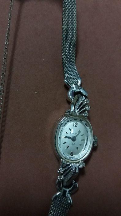 ceas aur alb 14k +8 diamante Bulova Bucuresti - imagine 3