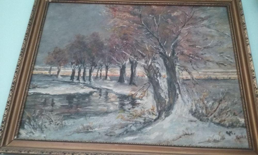 pictura de ulei pe placaj