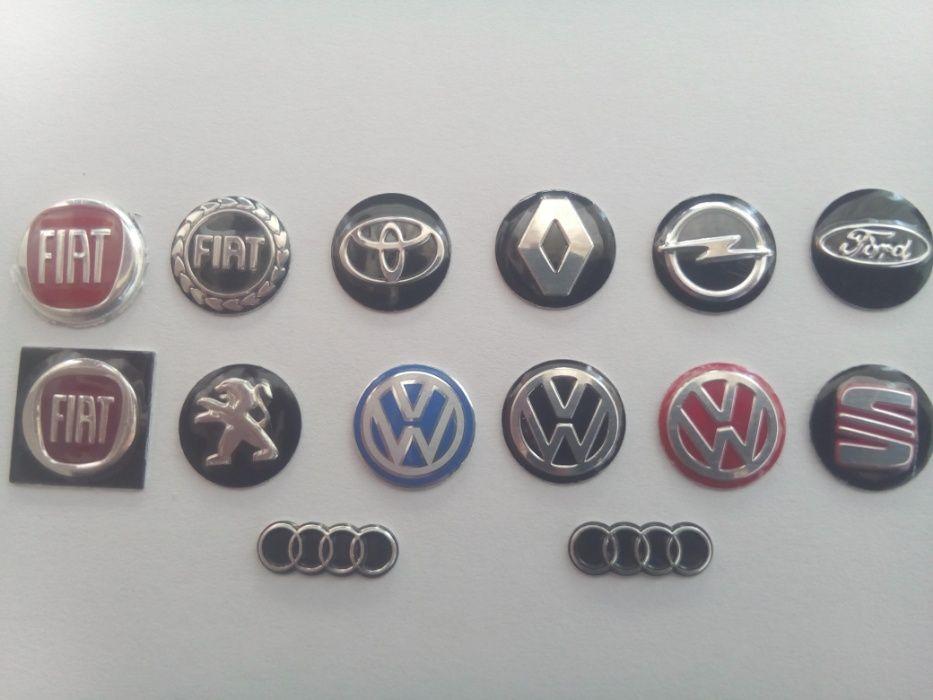 Стикер, емблема, лого за ключ 14мм. за VW,FORD,FIAT,OPEL,TOYOTA,SEAT,