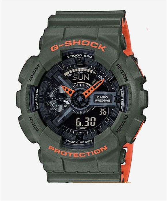 Ceas Sport Casio G Shock GA110LN-3ALayered Neon, NOU, Garantie 2 ani