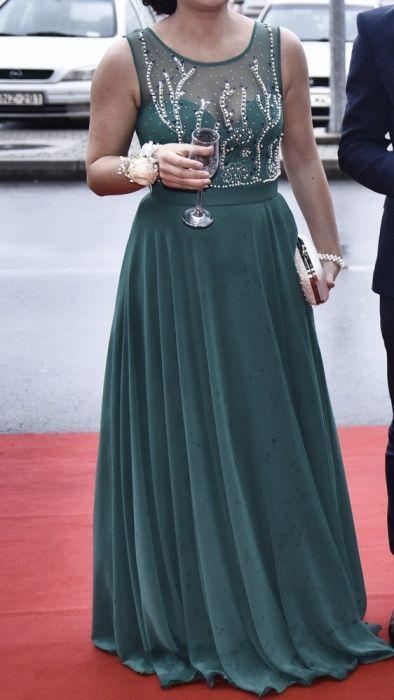 Rochie eleganta verde