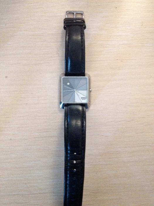OCAZIE!Vând ceas DOXA, cadran data, model 6063, unisex, culoare gri