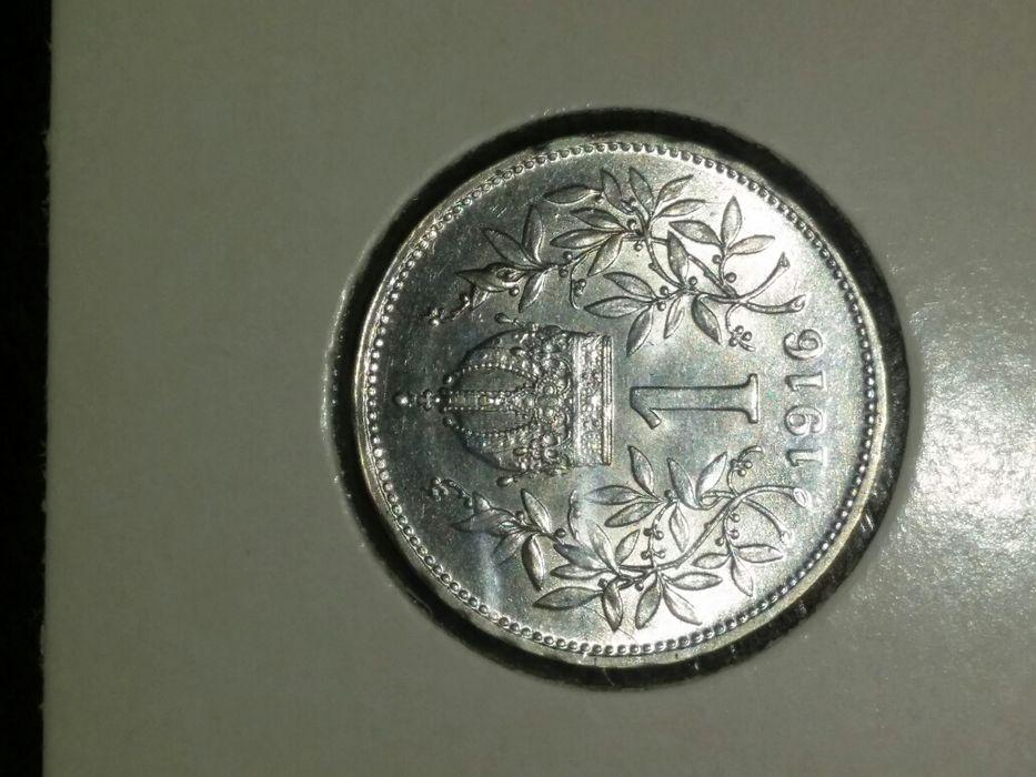 69 lei/Vand URGENT moneda argint 1 Corona 1916,Austro-Ungaria,SUPERBA!