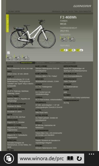 Bicicleta ELECTRICA winora