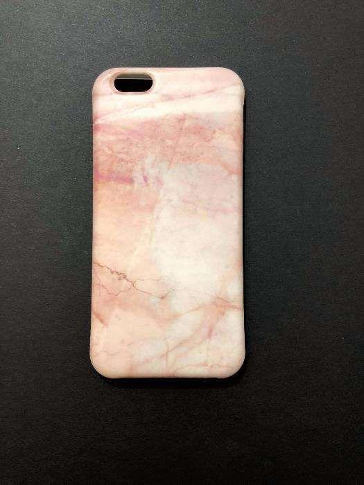 husa imitatie marmura roz dedicata apple Iphone 6 6s carcasa cover