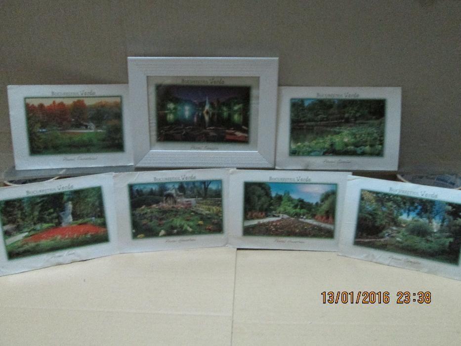 """Set de 7 mini reproduceri picturi """"Bucurestiul Verde"""""""
