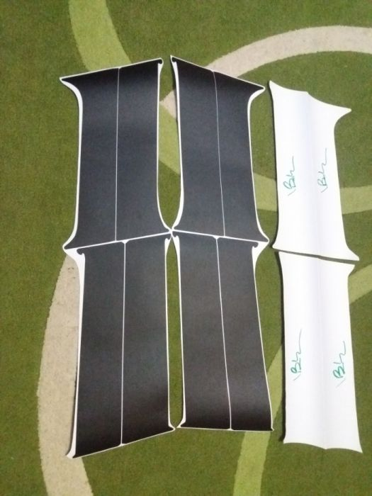 Autocolant negru carbon/mat montanti/stalpi Dacia Duster