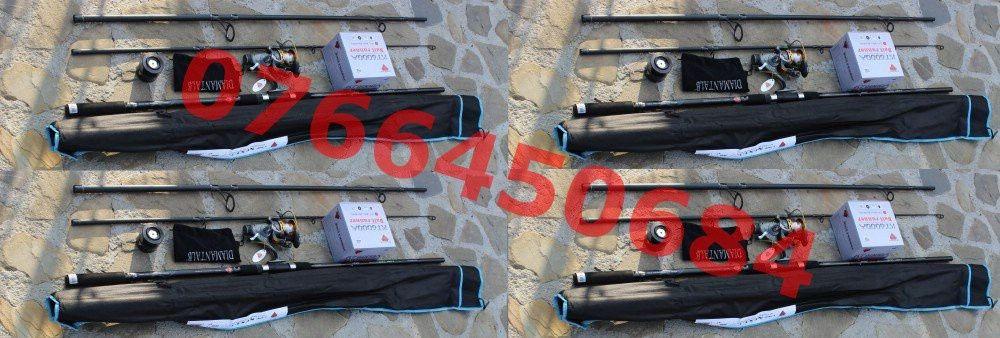 Set 4 Lansete Diamant Alb Next Carp 3.5 Lbs + 4 Mulinete KT 6000 NOU