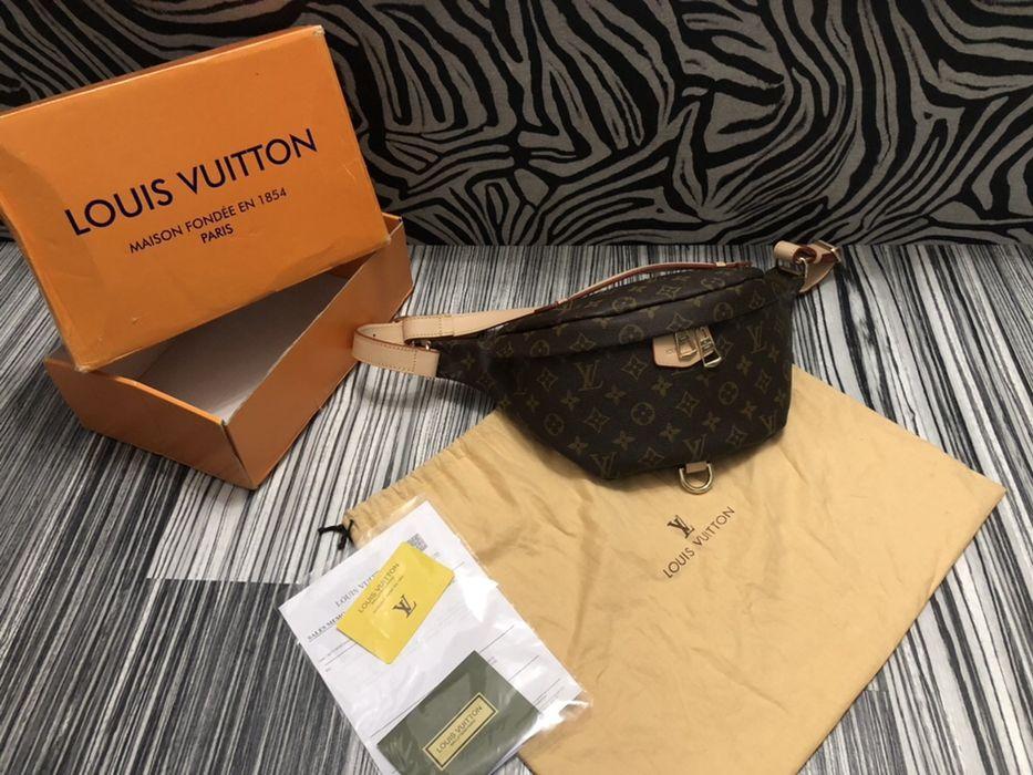 Borseta geanta Louis Vuitton piele naturală/bon fiscal