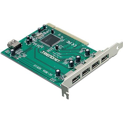 Placa Adaptador PCI con 5 puertos(4+1) USB 2.0 TRENDnet