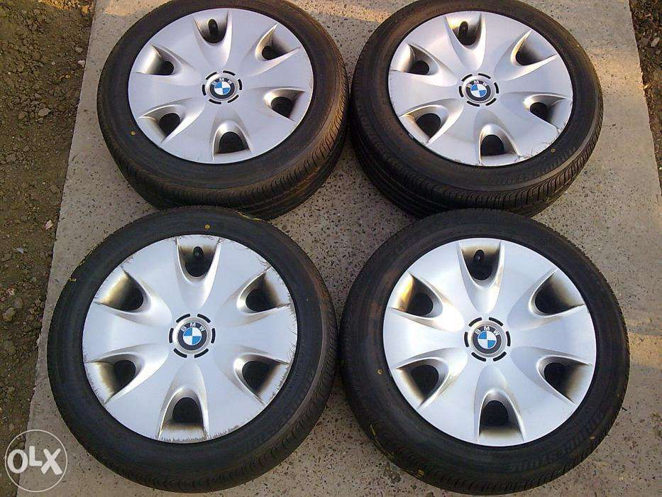"Set jante otel originale BMW SERIA1,PE16""+ANVELOPE VARA"