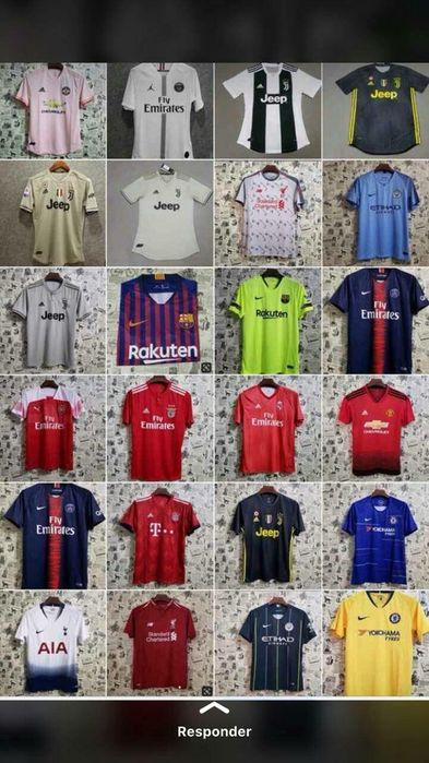 Camisas dos clubes