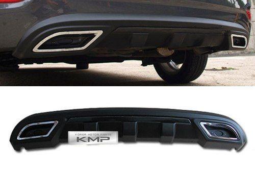Диффузор на задний бампер на Hyundai Accent