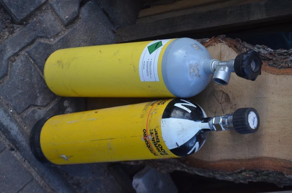 2 buteli Butelie paint ball oxigen co2 220-300 bari 6 litri scuba Timisoara - imagine 6