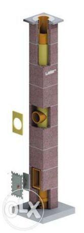 LEIER Cos fum profesional ceramic TERMOIZOLAT,7m,transport GRATUIT,d20