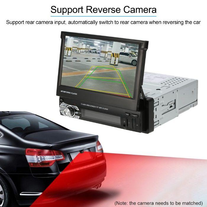 dvd auto Mp5 player retractabil BT telecomanda rama sina cabluri