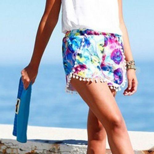Pantaloni scurti de plaja/ vara multicolor