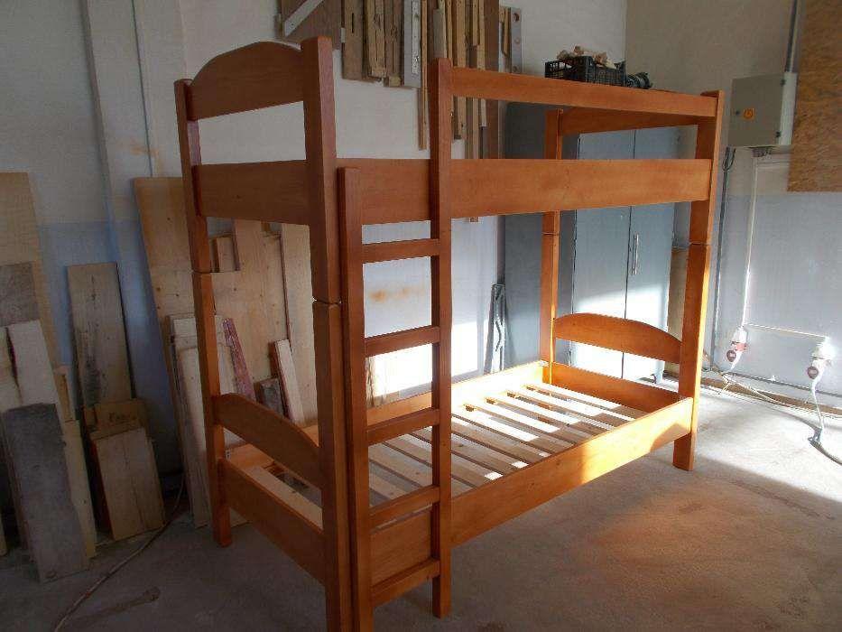 Pat etajat lemn masiv
