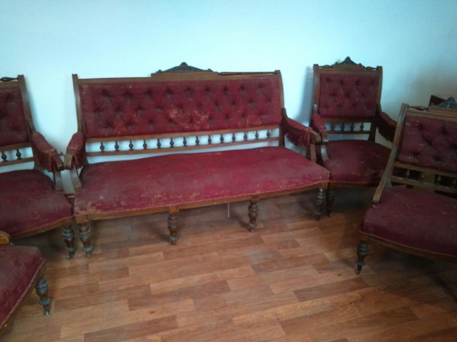 Set canapea + 4 fotolii antic
