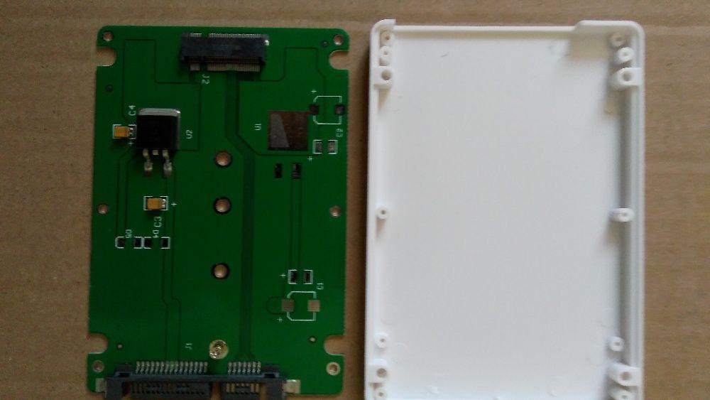 "Адаптер msata ssd to 2.5"" sata3, M.2 NGFF SSD to 2.5"" SATA 3"