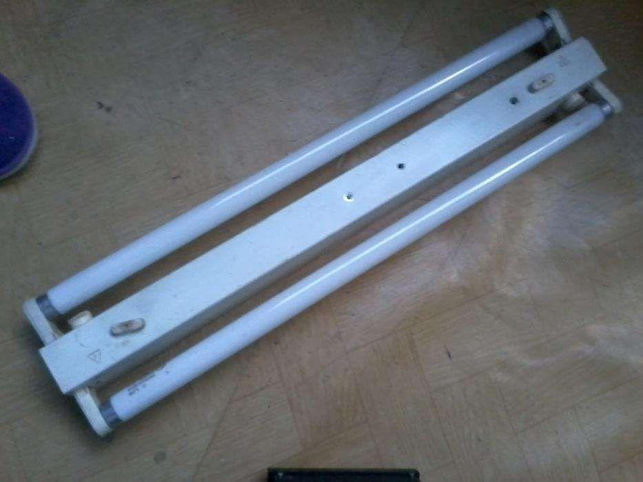 Vand montaj complet cu doua tuburi fluorescente neoane de 18 W fiecare