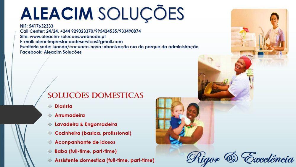 Serviços domésticos especializados