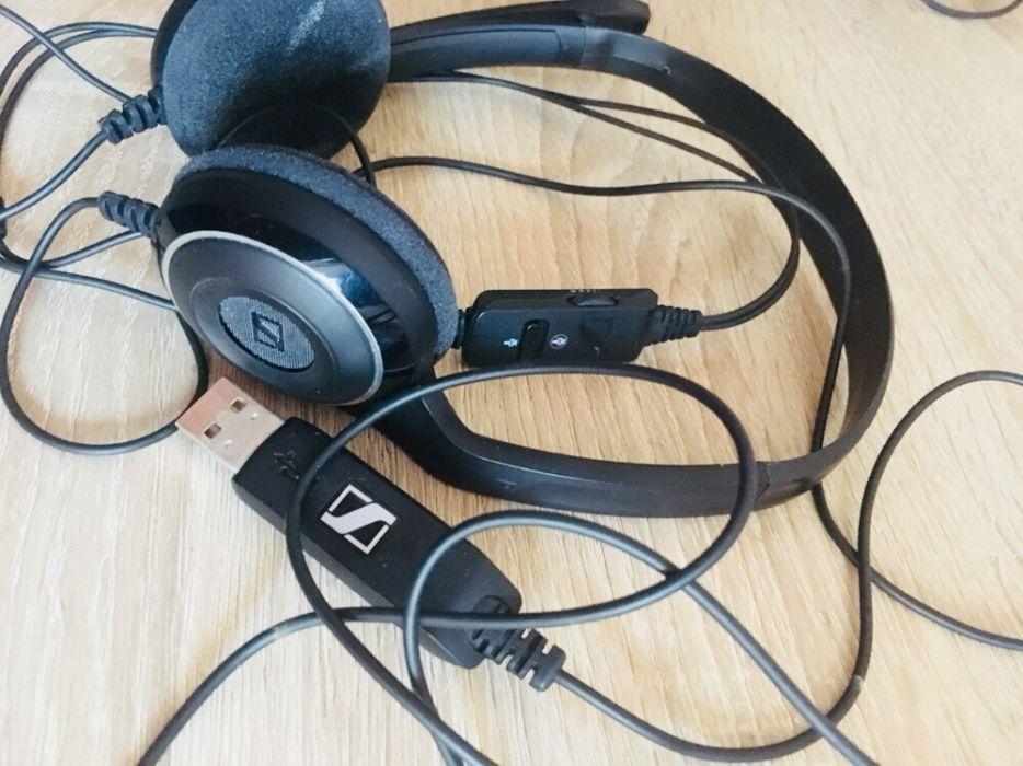 Casti audio cu banda Seinnheiser PC USB,Negru