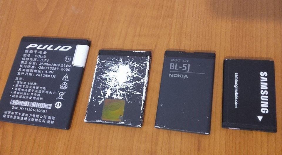 4 baterii telefon Samsung/Nokia BL-5J etc