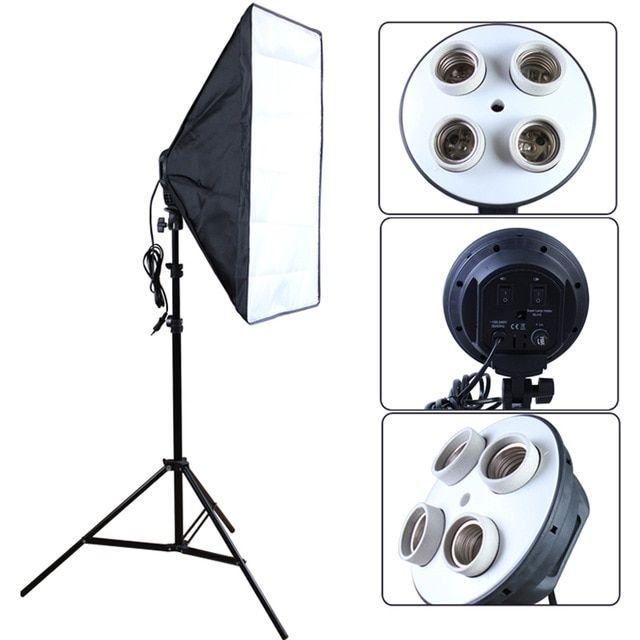 Softbox 50x70cm cu 4 socluri E27, Studio, Videochat, Oglinda Magica Bucuresti - imagine 4